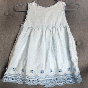 Light blue little girls dress